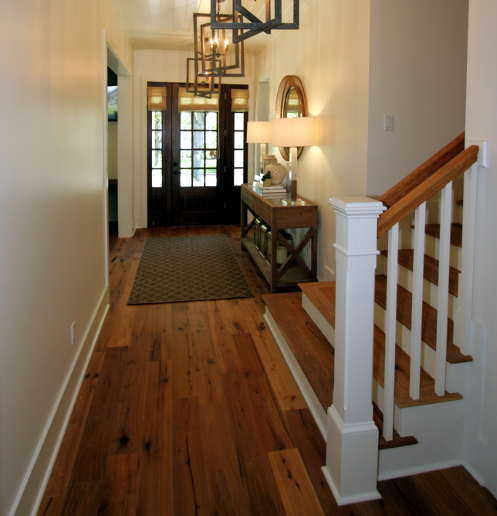 Wood flooring entrance hall