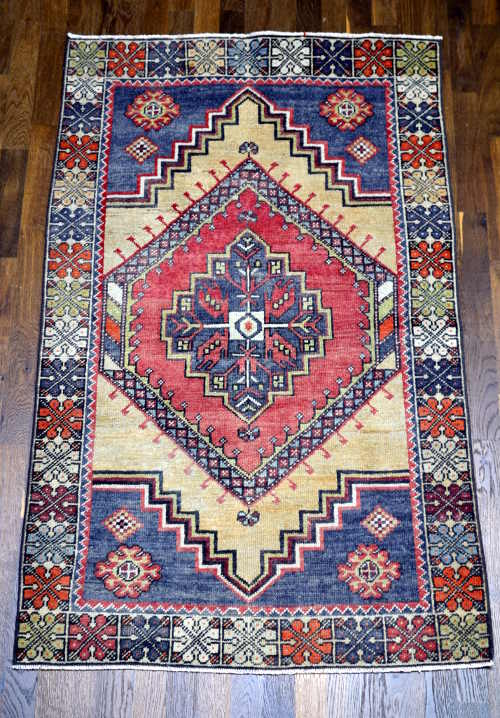 Anatolian hand-knotted rug 3x5