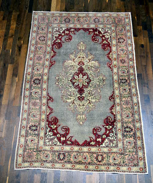 Anatolian hand-knotted rug 4x7