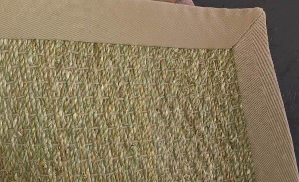 Sea Grass Rug 13ft 2in x 16ft; edges bound