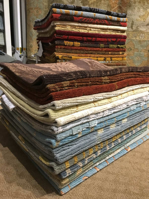 2nd stack of 2x3 rug samples