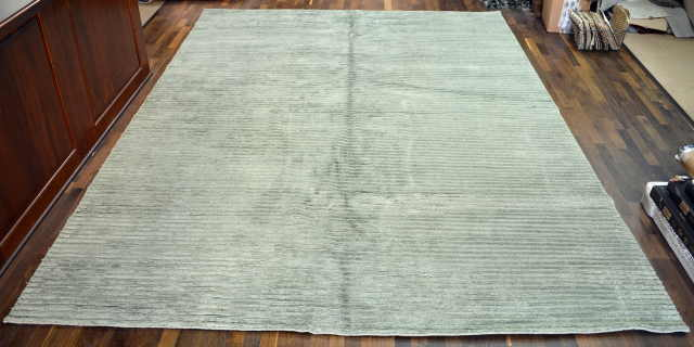 WC DOUBLE LOOP RUG COLOR GREEN SIZE 9 X 12