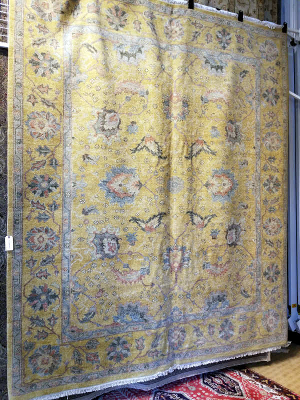 OBEETEE GHANDARA OUSHAK, SIZE 8X9'9, 78 SF  HANDKNOTTED ALL WOOL INDIA