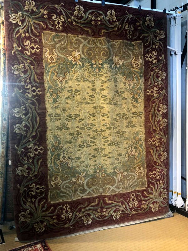 "SAMAD  #114716  ALHAMBRA  GRANADA  9'2""x12'2""  OR HANDKNOTTED ALL WOOL"