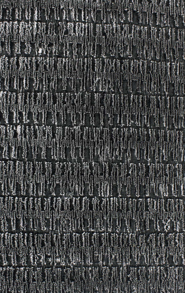 Charcoal hand loomed carpet sample