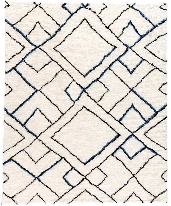 Moroccan hand-knotted rug