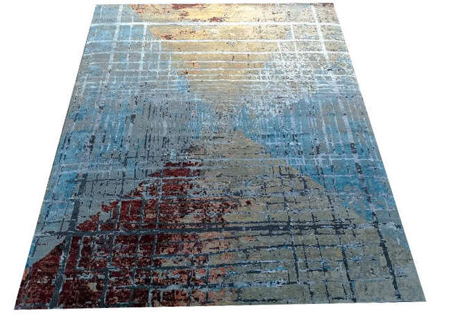 Cosmos hand-knotted rug