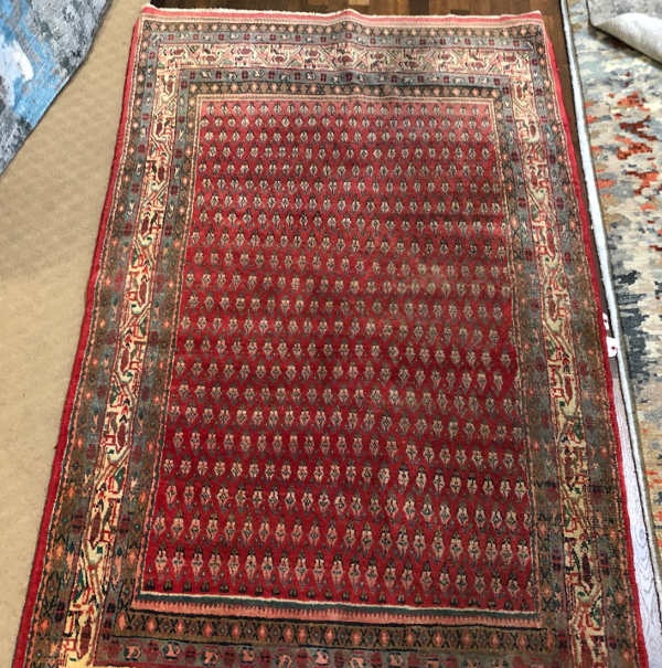MOMENI PERSIAN SEMI ANTIQUE SIZE 4'2 X 6'11  ALL WOOL HANDKNOTTED