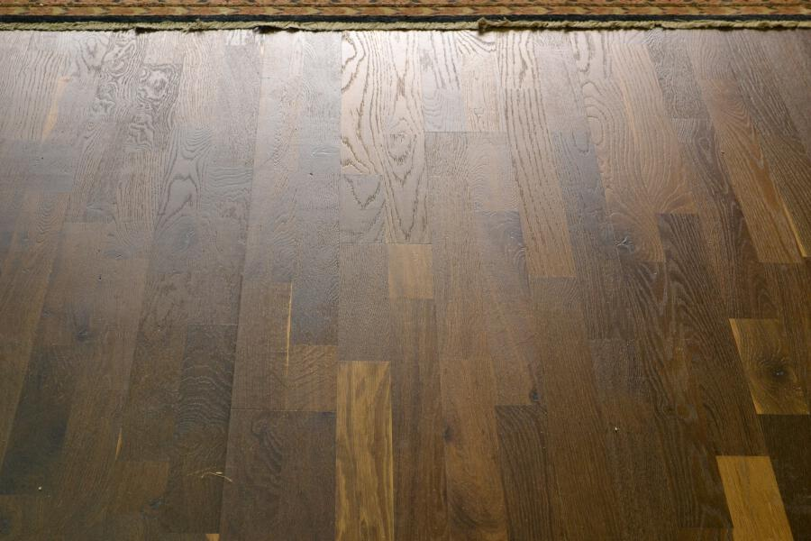 A oiled wood floor in reflected light