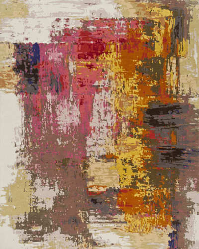 Rug with abstract art design - Addison/Dicus & Bailey