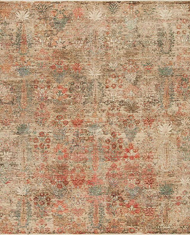 Valloire - hand-knotted in wool and metalic thread area rug