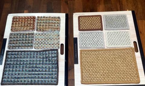 Selected samples indoor/outdoor carpeting.