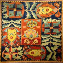 Multi-colored Donegal rug