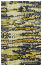 Tufted rug with abstract design