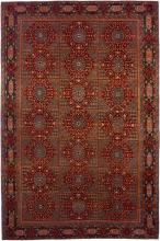 Mamluk rug in red and blue