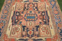 Vintage rug with cruxiform medallion