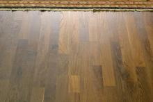 20-year-old, heavily trafficked wood floor