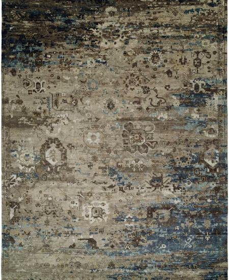 Rug in gray and blue
