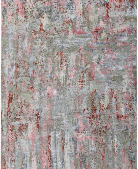 Hand knotted wool rug Serena Carnation Pink
