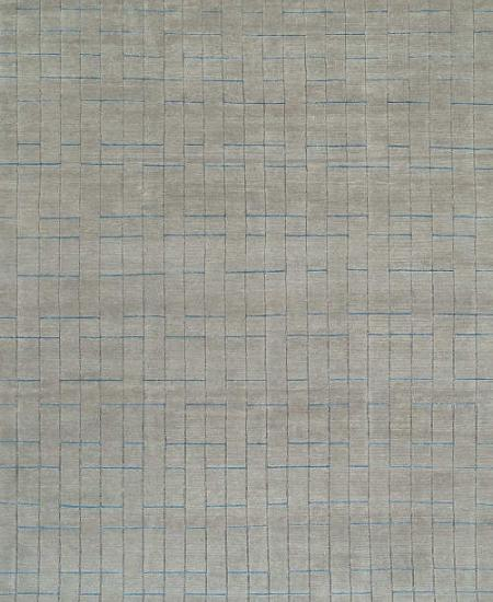 Hand knotted wool rug Blipmarks Flannel
