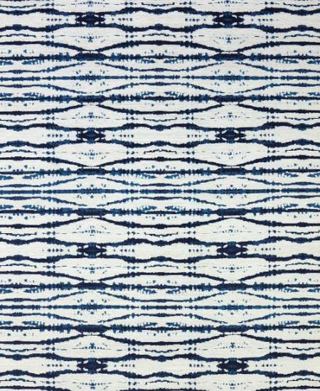 Hand knotted wool rug Pizzazz Blue and White