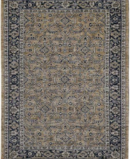 INA 8 Golds hand-knotted rug in wool and art silk