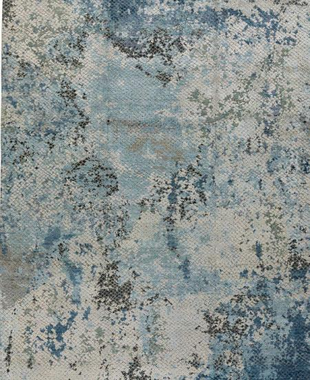 Foundry Cornflower handknotted rug