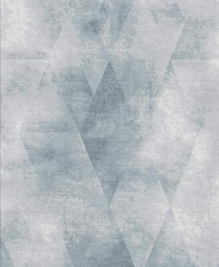 Hand-knotted rug, Voyage 12, wool and silk
