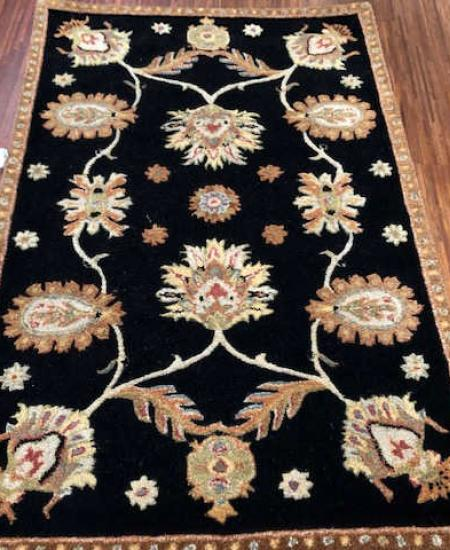 DYNASTY  ALL OVER PERSIAN RUG  SIZE 3'6 X 5'6   BLACK