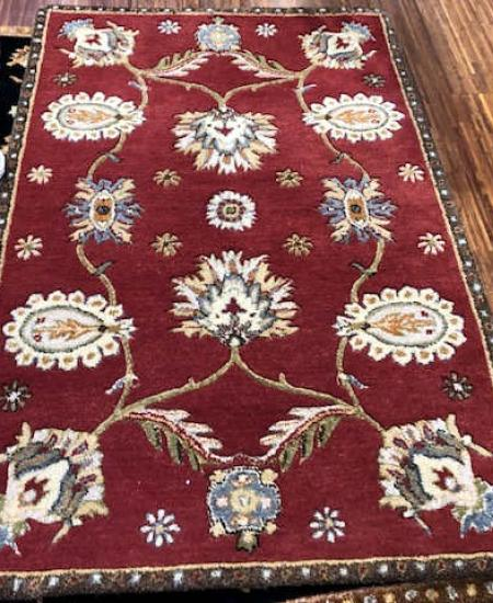 TUFTED DYNASTY PERSIAN RUG SIZE 3'6 X 5'6 RED
