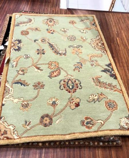 TUFTED DYNASTY PERSIAN RUG SIZE 3'6 X 5'6 SEAFOAM