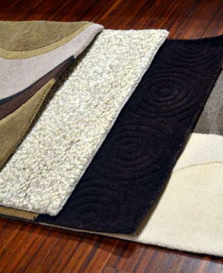 Discontinued wool tufted rugs by coursitan. Size: 4x6