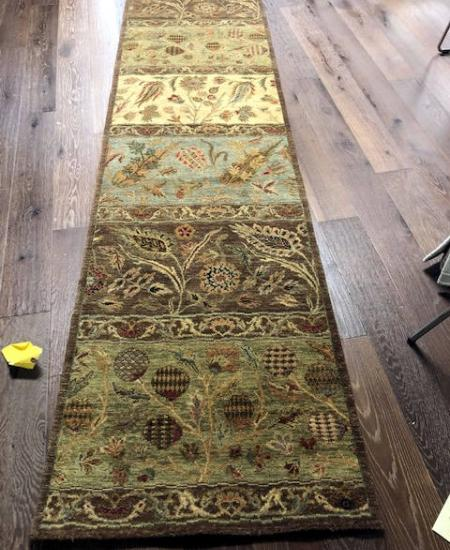 Ten foot Himalayan hand knotted runner