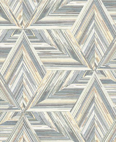 Hand-knotted area rug, MC Escher-like design in gray and subtle browns.