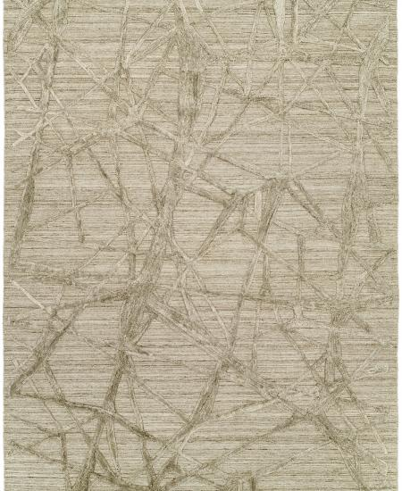 Contemporary hand-knotted rug in abstract nature pattern.